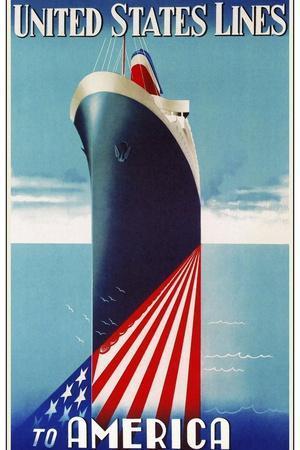 Travel Ship 0125-Vintage Lavoie-Framed Giclee Print