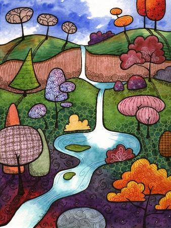 Peaceful Waterfall-Sandra Willard-Framed Giclee Print