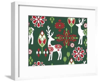 Winter Deer-Joanne Paynter Design-Framed Giclee Print