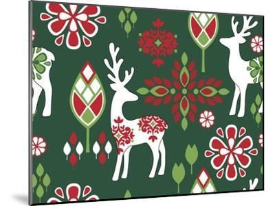 Winter Deer-Joanne Paynter Design-Mounted Giclee Print