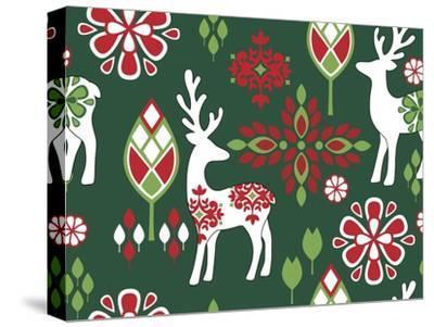 Winter Deer-Joanne Paynter Design-Stretched Canvas Print