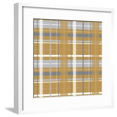 Holiday Yellow Plaid-Joanne Paynter Design-Framed Giclee Print