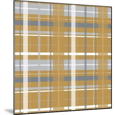 Holiday Yellow Plaid-Joanne Paynter Design-Mounted Giclee Print
