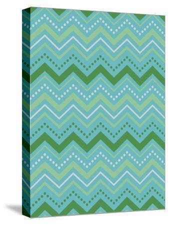Chevron Gift Wrap-Joanne Paynter Design-Stretched Canvas Print