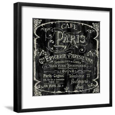 Paris Bistro VI-Color Bakery-Framed Giclee Print