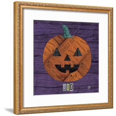 Pumpkin-Design Turnpike-Framed Giclee Print