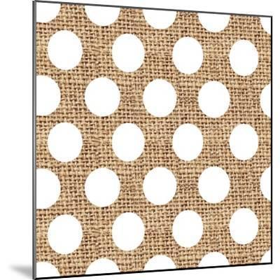 White Burlap Dots-Joanne Paynter Design-Mounted Giclee Print