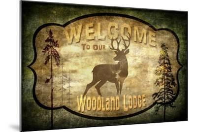Welcome Lodge Deer-LightBoxJournal-Mounted Giclee Print