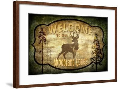 Welcome Lodge Deer-LightBoxJournal-Framed Giclee Print