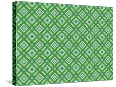 Christmas Wrap 1 Diamonds-Joanne Paynter Design-Stretched Canvas Print