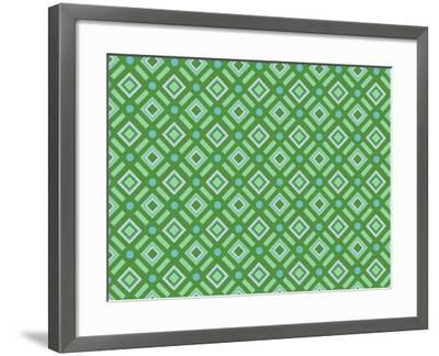 Christmas Wrap 1 Diamonds-Joanne Paynter Design-Framed Photographic Print