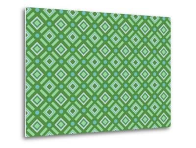 Christmas Wrap 1 Diamonds-Joanne Paynter Design-Metal Print