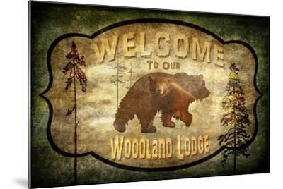 Welcome Lodge Bear-LightBoxJournal-Mounted Giclee Print
