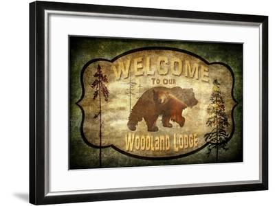 Welcome Lodge Bear-LightBoxJournal-Framed Giclee Print