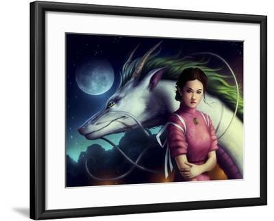 Dragon Night-JoJoesArt-Framed Giclee Print