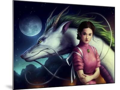 Dragon Night-JoJoesArt-Mounted Giclee Print