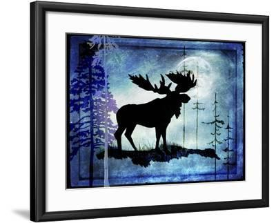 Midnight Moose-LightBoxJournal-Framed Giclee Print