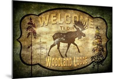 Welcome Lodge Moose-LightBoxJournal-Mounted Giclee Print