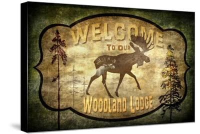 Welcome Lodge Moose-LightBoxJournal-Stretched Canvas Print