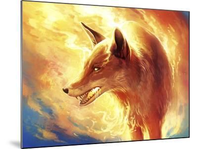 Fire Fox-JoJoesArt-Mounted Giclee Print