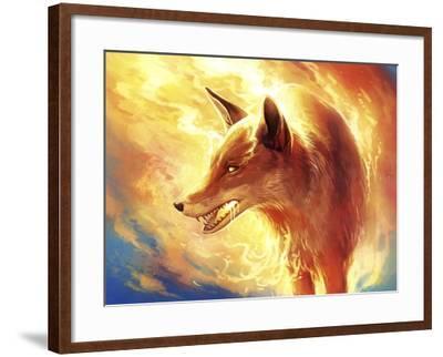 Fire Fox-JoJoesArt-Framed Giclee Print