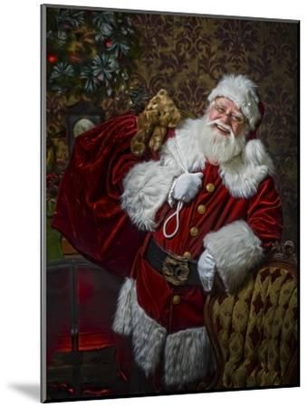 Santa-Santa?s Workshop-Mounted Giclee Print