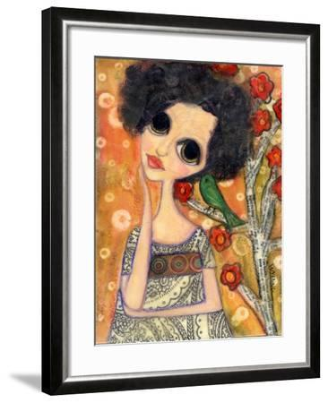 Big Eyed Girl a Birdy Told Me-Wyanne-Framed Giclee Print