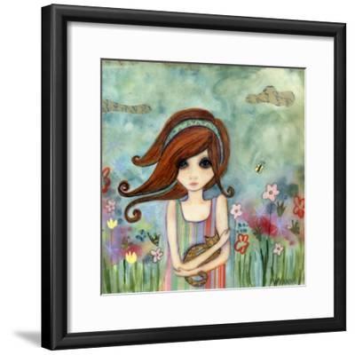 Big Eyed Girl Bad Kitty-Wyanne-Framed Giclee Print