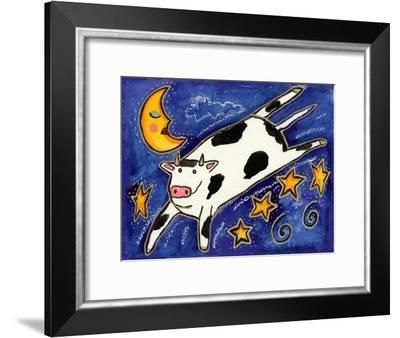 The Cow That Jumped over the Moon-Wyanne-Framed Giclee Print