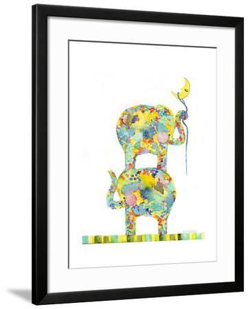 Lasso the Moon Elephants-Wyanne-Framed Giclee Print
