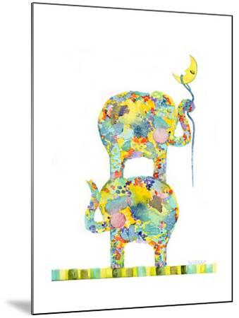 Lasso the Moon Elephants-Wyanne-Mounted Giclee Print