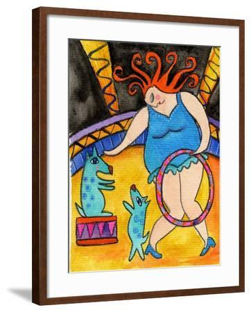Big Diva and the Circus Dogs-Wyanne-Framed Giclee Print