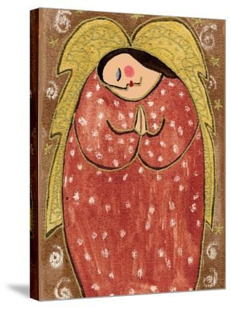 Big Diva Angel Praying-Wyanne-Stretched Canvas Print