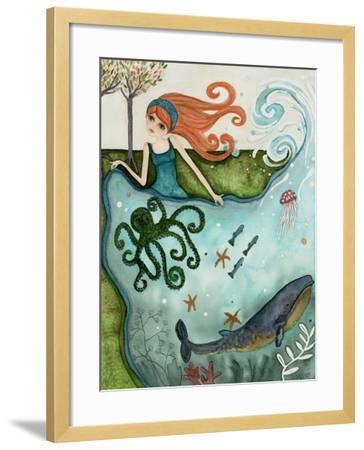 Big Eyed Girl Ocean Dreamer-Wyanne-Framed Giclee Print