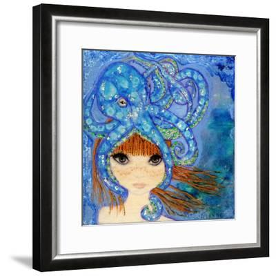 Big Eyed Girl Ocean Blue-Wyanne-Framed Giclee Print