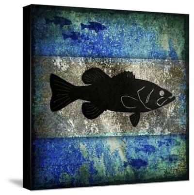 Fishing Rules Bass-LightBoxJournal-Stretched Canvas Print