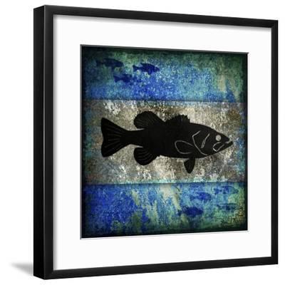 Fishing Rules Bass-LightBoxJournal-Framed Giclee Print