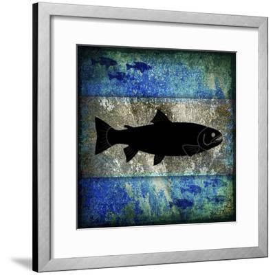 Fishing Rules Trout-LightBoxJournal-Framed Giclee Print