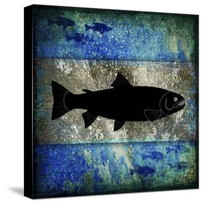 Fishing Rules Trout-LightBoxJournal-Stretched Canvas Print
