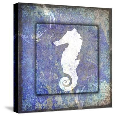 Beach House Sea Horse-LightBoxJournal-Stretched Canvas Print
