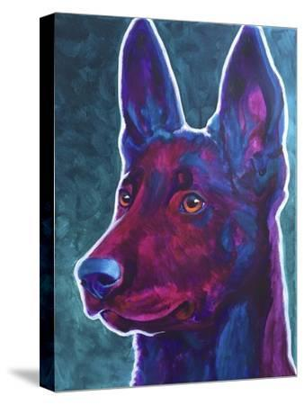 Belgian Malinois Burgundy-Dawgart-Stretched Canvas Print