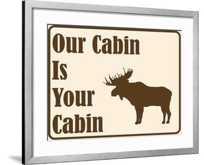 Our Cabin-Joanne Paynter Design-Framed Giclee Print