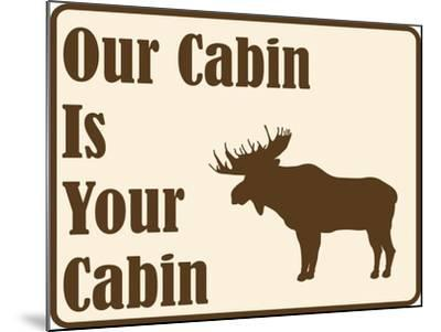 Our Cabin-Joanne Paynter Design-Mounted Giclee Print