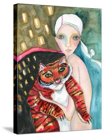 Bad Kitty-Wyanne-Stretched Canvas Print
