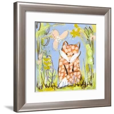 Fox in the Brambles-Wyanne-Framed Giclee Print
