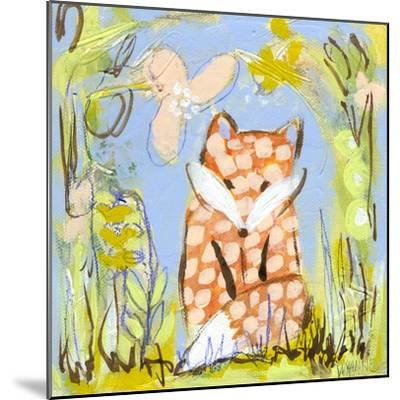 Fox in the Brambles-Wyanne-Mounted Giclee Print