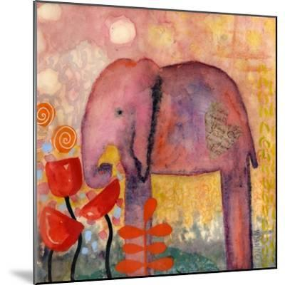 Flower Monger Elephant-Wyanne-Mounted Giclee Print