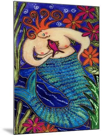 Big Diva Redhead Mermaid-Wyanne-Mounted Giclee Print