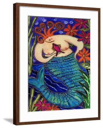 Big Diva Redhead Mermaid-Wyanne-Framed Giclee Print
