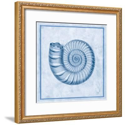 Blue Nautilus B-Sarah E. Chilton-Framed Art Print